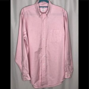 Brooks Brothers 346 Pink Button Down Shirt 16 1/2